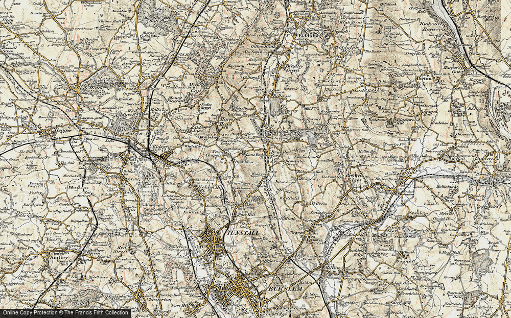 Old Map of Lane Ends, 1902-1903 in 1902-1903
