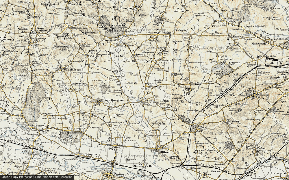 Old Map of Lane Ends, 1902 in 1902