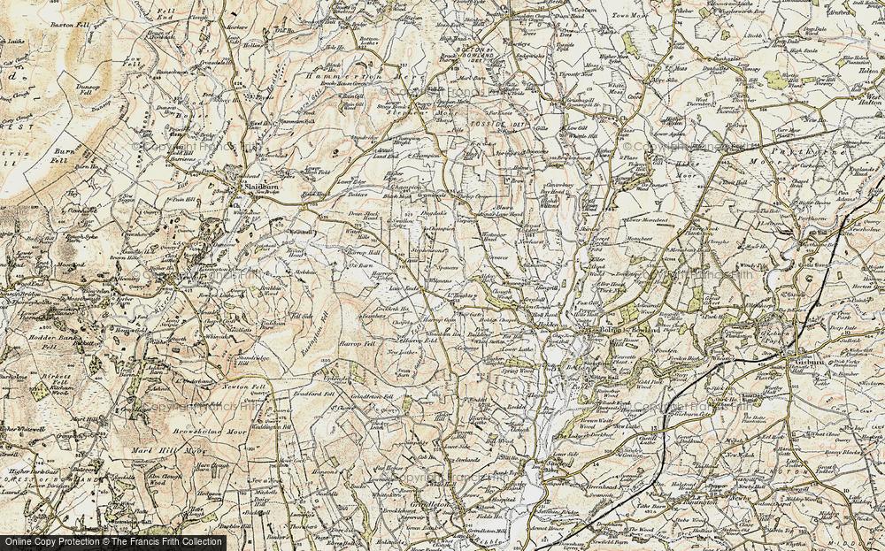Old Map of Historic Map covering Alder Ho in 1903-1904