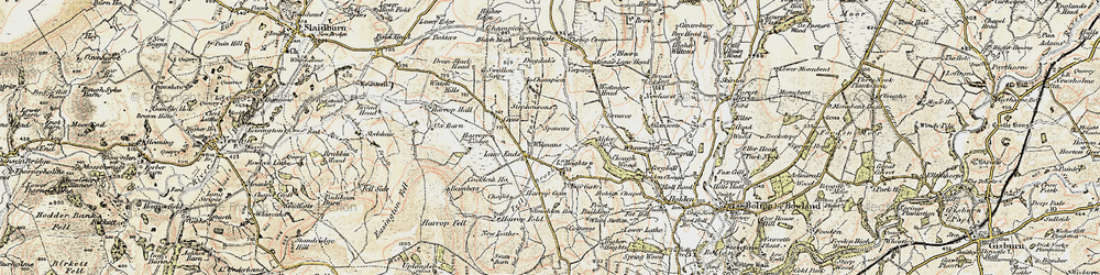 Old map of Westmoor in 1903-1904