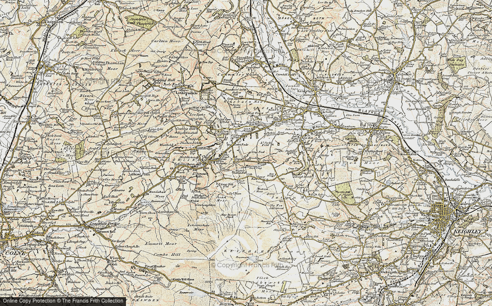 Old Map of Lane Ends, 1903-1904 in 1903-1904