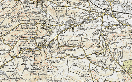Old map of Lane Ends in 1903-1904