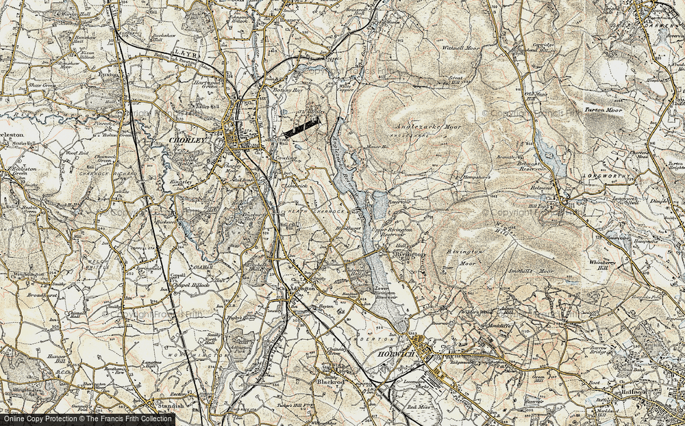 Old Map of Lane Ends, 1903 in 1903
