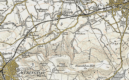 Old map of Lane Ends in 1903