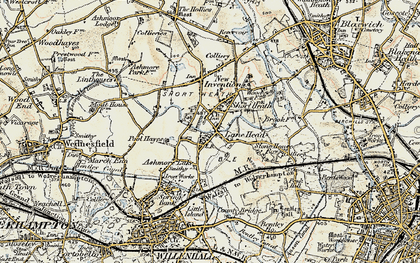 Old map of Lane Head in 1902