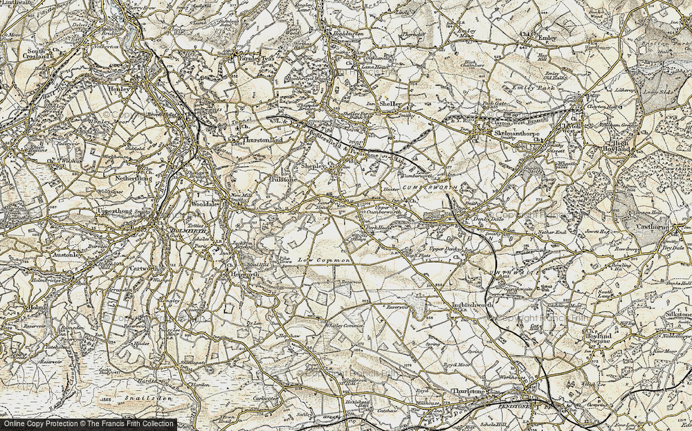 Old Map of Lane Head, 1903 in 1903