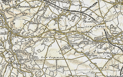 Old map of Lane Head in 1903