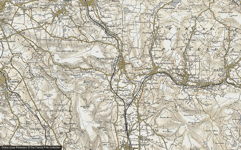 Old Map of Lane Side, 1903 in 1903