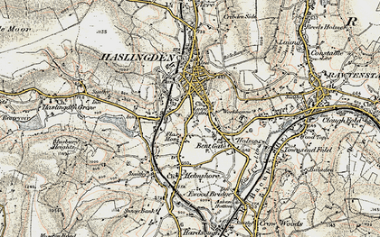 Old map of Lane Side in 1903