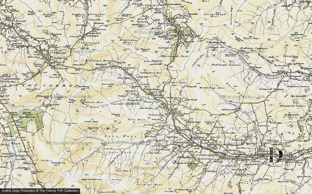 Old Map of Lanehead, 1901-1904 in 1901-1904