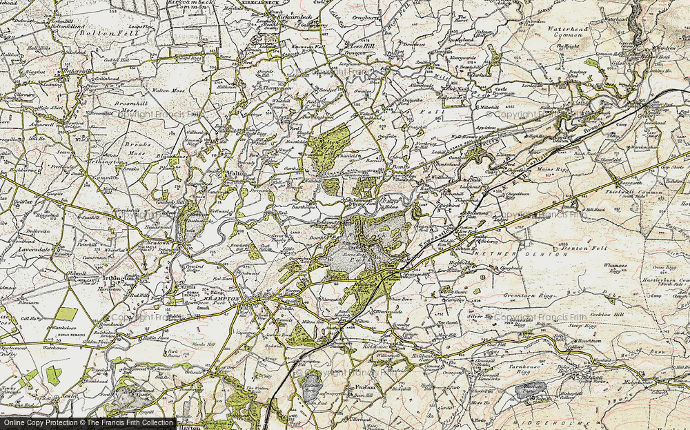 Old Map of Lanercost, 1901-1904 in 1901-1904