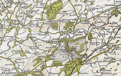 Old map of Lanercost in 1901-1904
