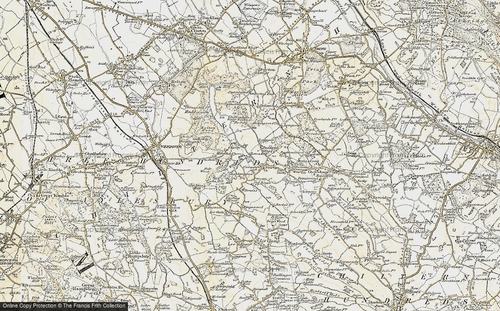 Old Map of Lanes End, 1898 in 1898