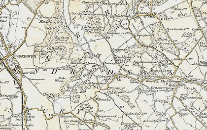 Old map of Lanes End in 1898