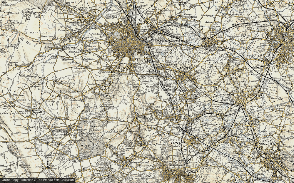 Old Map of Lanesfield, 1902 in 1902