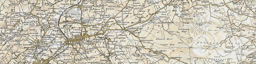 Old map of Laneshaw Bridge in 1903-1904