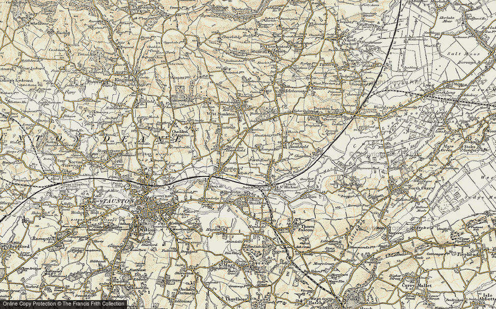 Old Map of Langaller, 1898-1900 in 1898-1900