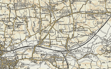 Old map of Langaller in 1898-1900