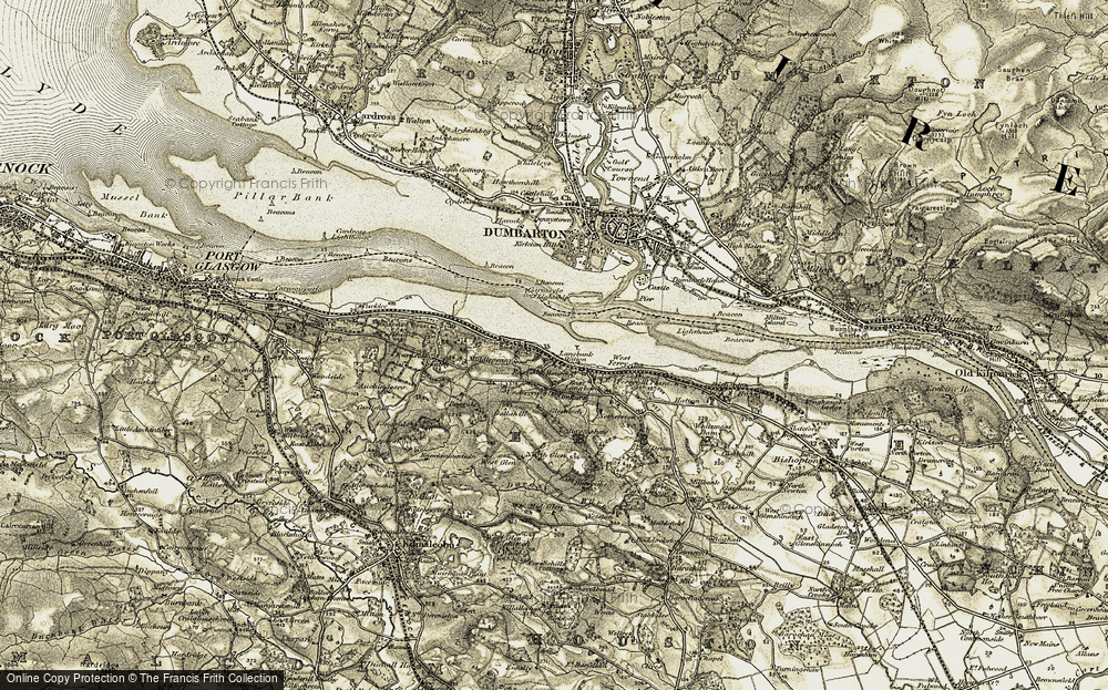 Old Map of Langbank, 1905-1906 in 1905-1906