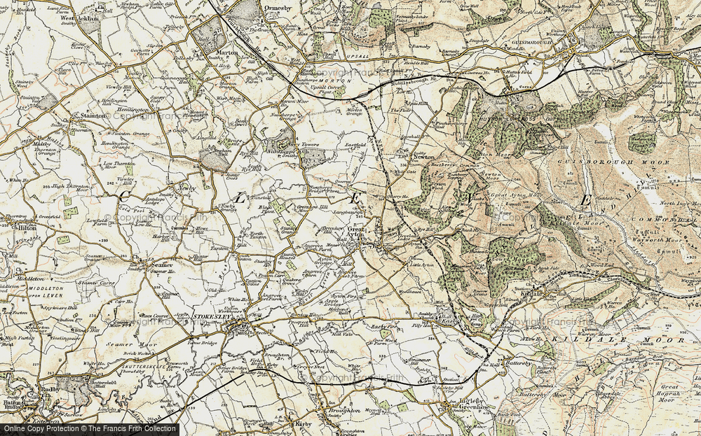 Old Map of Historic Map covering Ayton Firs in 1903-1904