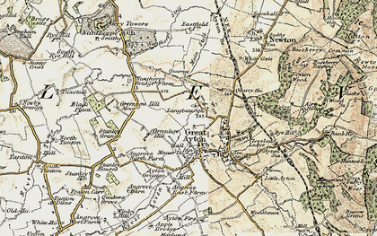 Old map of Langbaurgh in 1903-1904