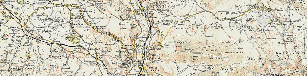 Old map of Langcliffe in 1903-1904