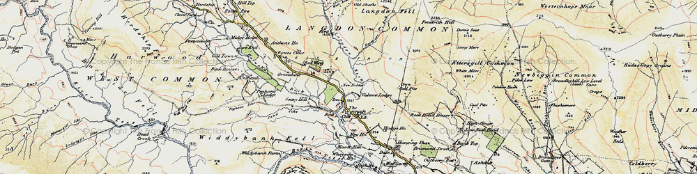 Old map of Langdon Beck in 1904