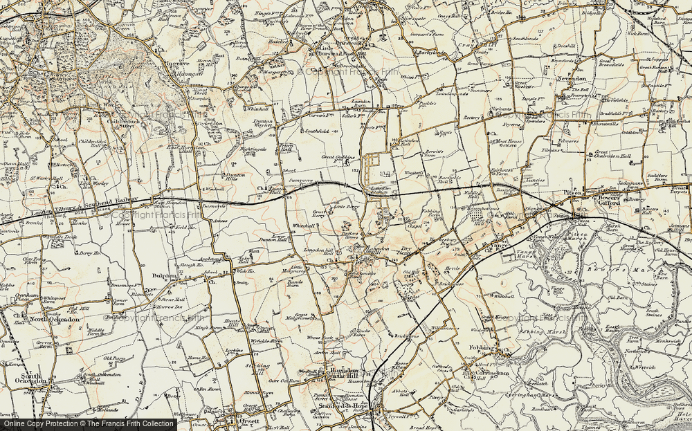 Old Map of Langdon Hills, 1898 in 1898