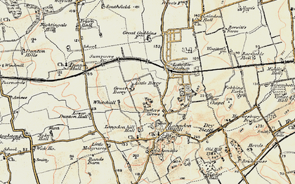 Old map of Langdon Hills in 1898