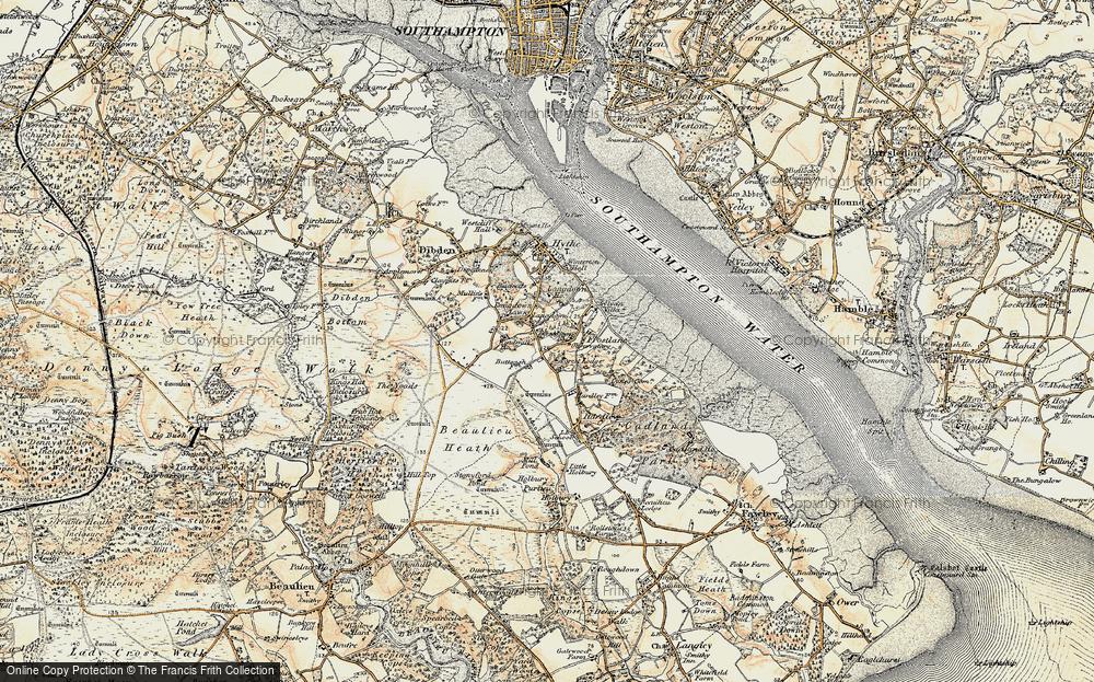 Old Map of Langdown, 1897-1909 in 1897-1909