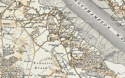 Old map of Langdown in 1897-1909