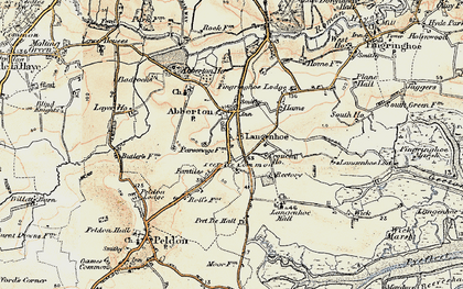 Old map of Langenhoe Hall in 1898-1899