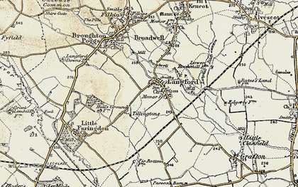 Old map of Langford in 1898-1899