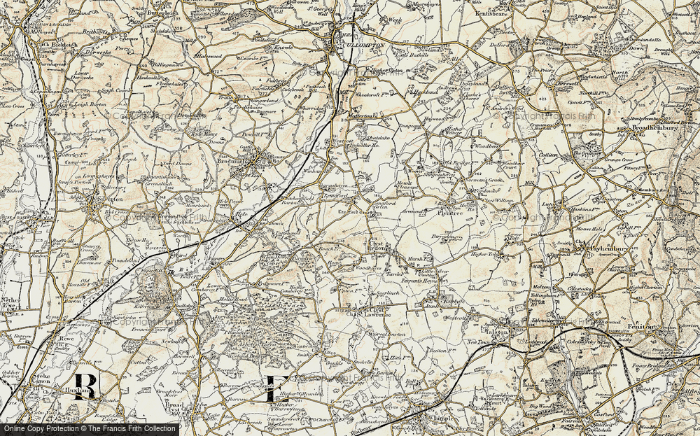 Old Map of Langford, 1898-1900 in 1898-1900