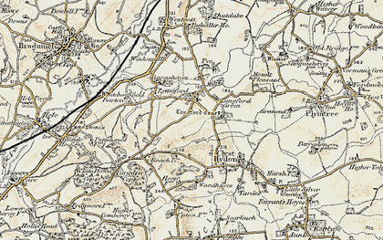 Old map of Langford in 1898-1900