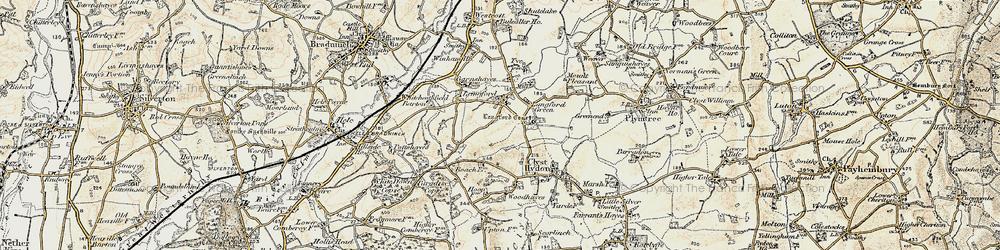 Old map of Winham in 1898-1900