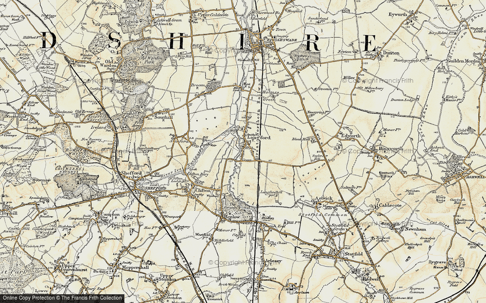 Old Map of Langford, 1898-1901 in 1898-1901