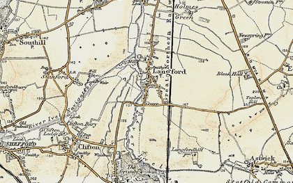 Old map of Langford in 1898-1901