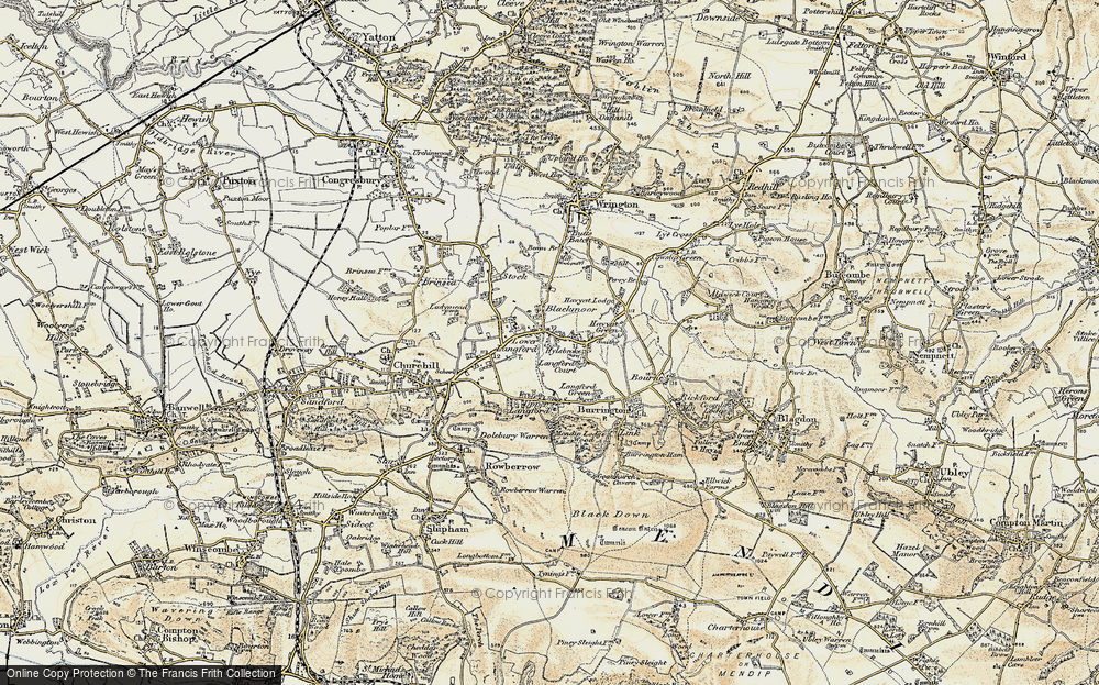 Old Map of Langford, 1899-1900 in 1899-1900