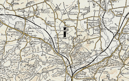 Old map of Langford in 1899-1900