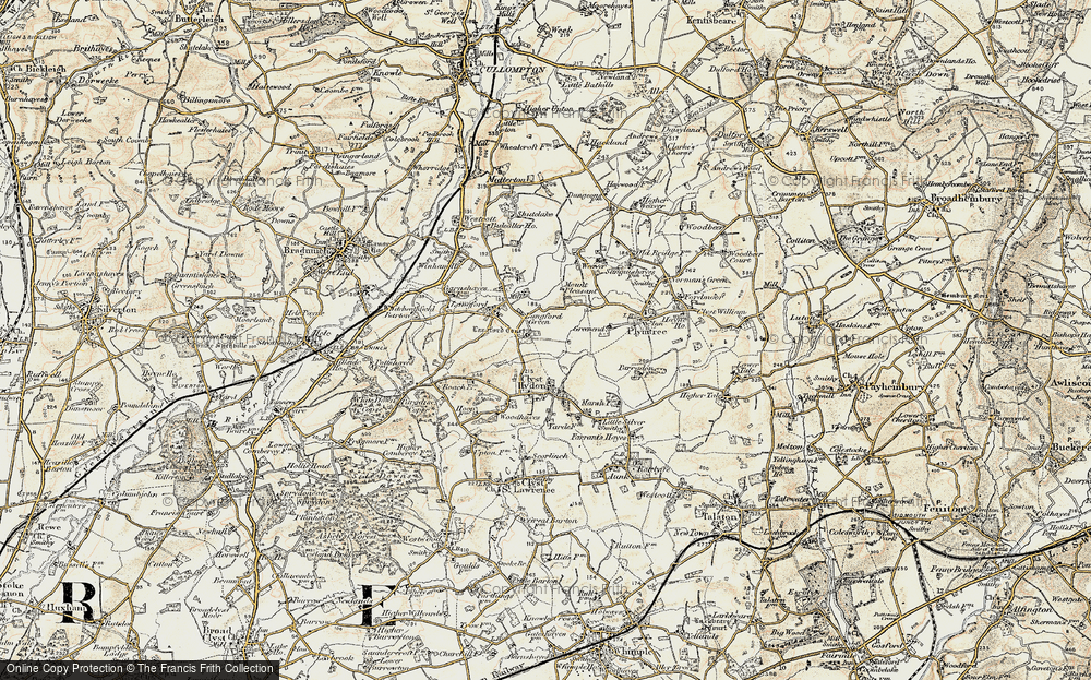 Old Map of Historic Map covering Langford Court in 1898-1900