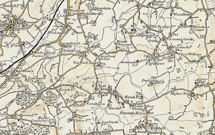Old map of Langford Court in 1898-1900