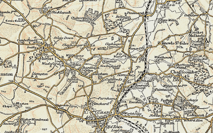 Old map of Langham in 1898-1899