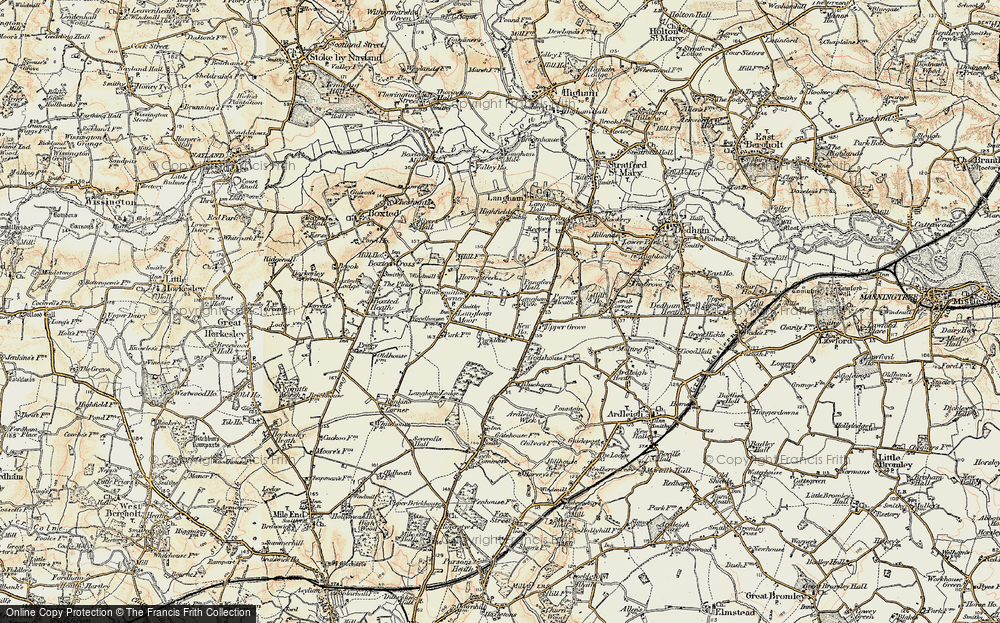 Old Map of Langham, 1898-1899 in 1898-1899