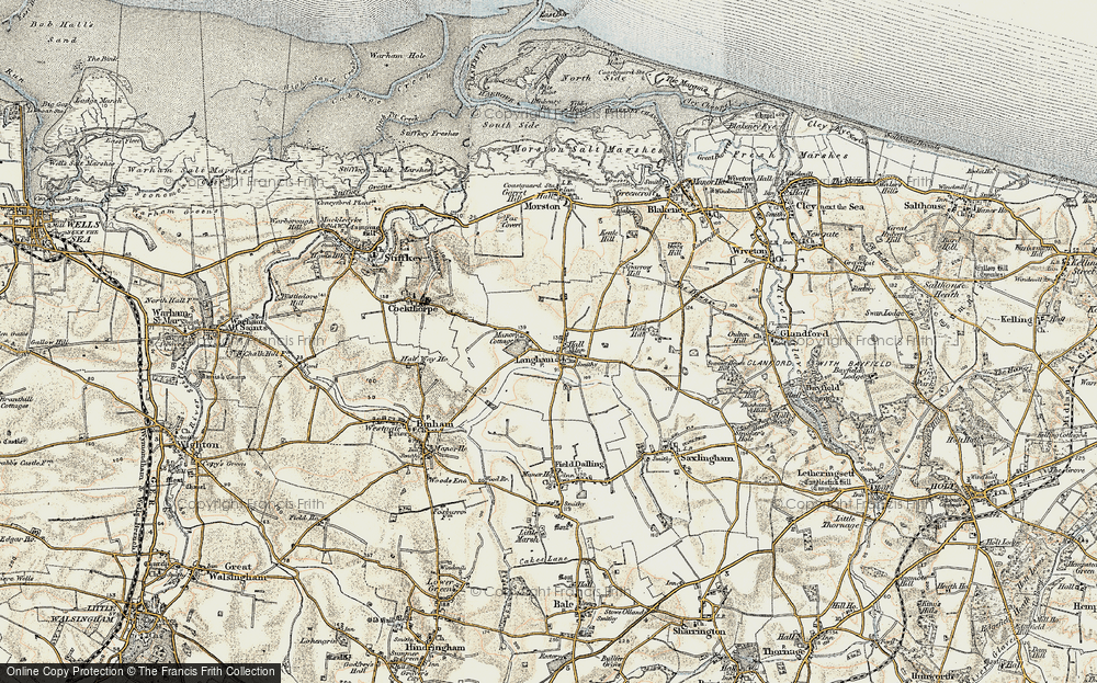 Old Map of Langham, 1901-1902 in 1901-1902