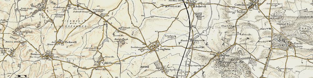 Old map of Langham Lodge in 1901-1903