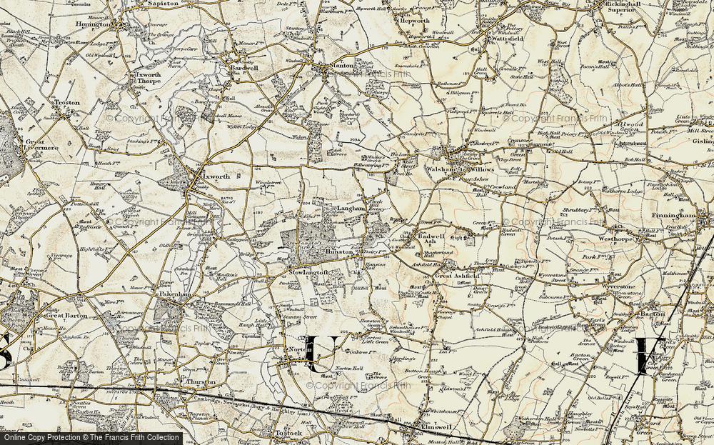 Old Map of Langham, 1901 in 1901