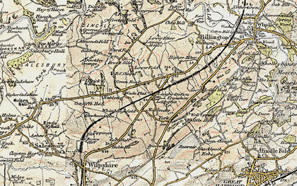 Old map of Langho in 1903-1904