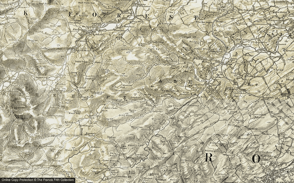 Old Map of Langhope, 1901-1904 in 1901-1904