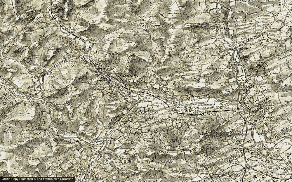 Old Map of Langlee, 1901-1904 in 1901-1904